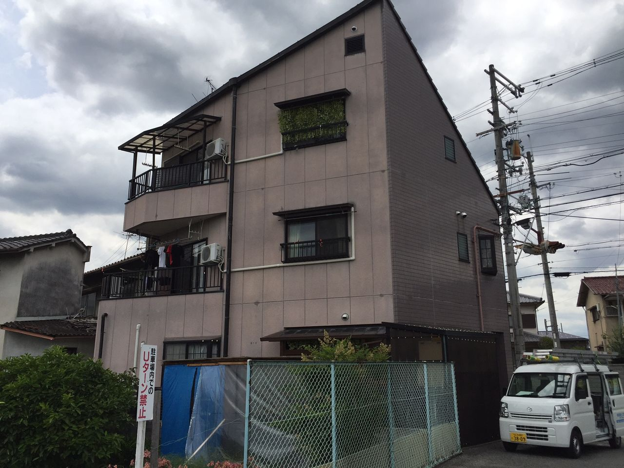 永田邸 河内長野市 外観 施工前 (2)