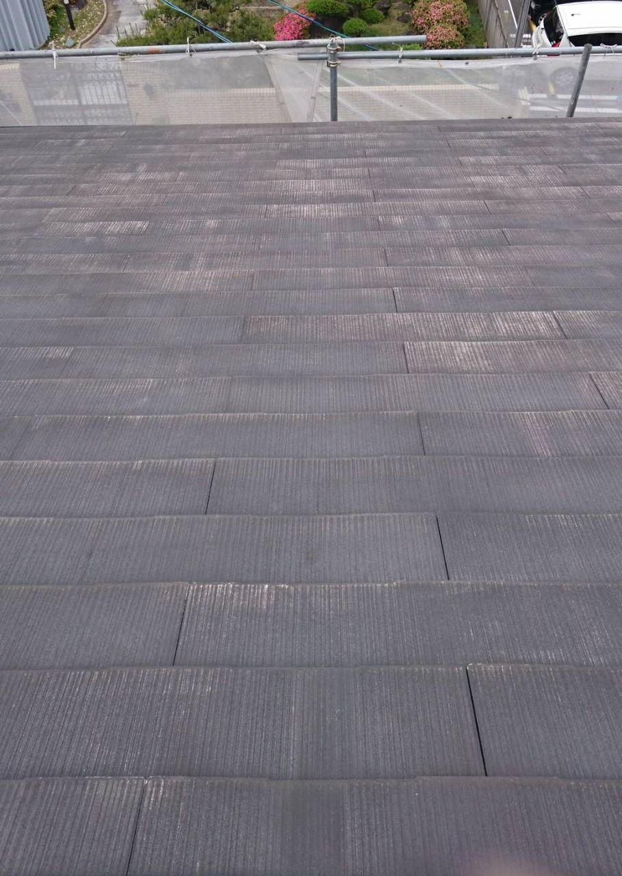 紙透邸屋根洗浄前トリミング後